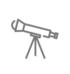 simple telescope line icon symbol and sign vector image