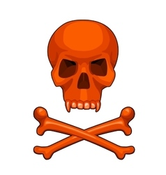 skull and crossbones cartoon vector image