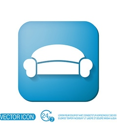 sofa icon symbol furniture icon home interior vector image
