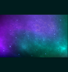 space background with stardust and shining stars vector image