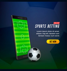 sports betting online web banner concept mobile vector image