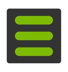 Stack flat eco green and gray colors rounded vector