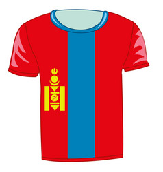 t-shirt flag mongolia vector image