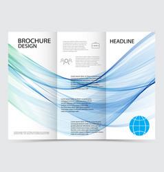 template brochure design vector image