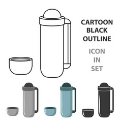 Thermos icon of for web and vector