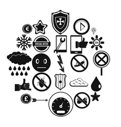 type icons set simple style vector image