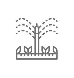 Watering irrigation sprinklers agriculture vector