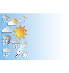 Weather signs in paper style vector image