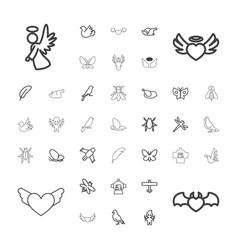 Wing icons vector