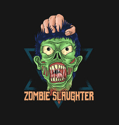 zombiezombie slaughter graphic vector image