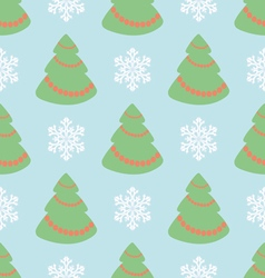 Christmas seamless pattern with Christmas t vector image