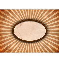 Ellipse frame with rays vector image vector image