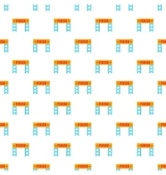Finish race gate pattern cartoon style vector image
