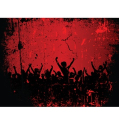 party grunge vector image vector image