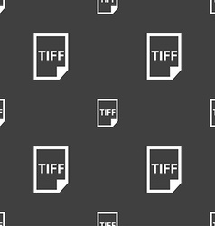 TIFF Icon sign Seamless pattern on a gray vector image