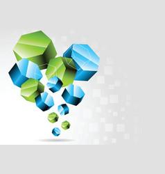 3d hexagon vector image vector image