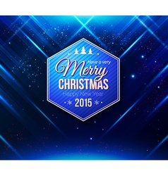 Blue Christmas card Abstract striped background vector image