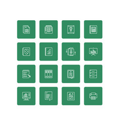 business documents finance simple icon set vector image