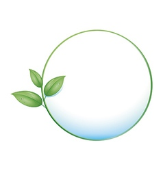 green button leaf vector image vector image