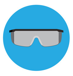 isolated protective glasses vector image vector image