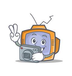 Photography tv character cartoon object vector