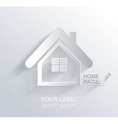 White paper origami home icon vector image vector image