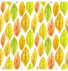 Colorful autumn leaves seamless pattern vector image