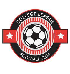 football club college league ball circle frame bac vector image