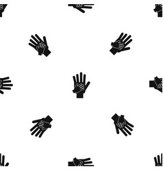 parent and child hands together pattern seamless vector image vector image