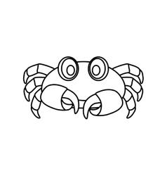 Sea crab animal vector image vector image