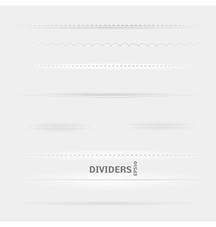 Set of Dividers vector image
