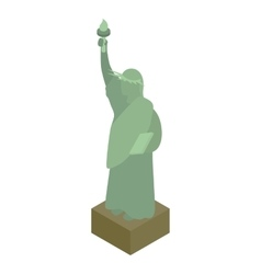 Statue of liberty icon isometric 3d style vector image