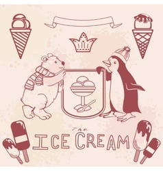 Various Ice cream set vector image vector image