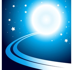 Abstract background with moon vector image vector image
