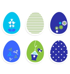Beautiful cute easter eggs isolated on white vector image vector image
