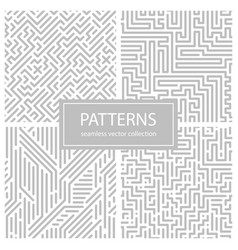 collection of striped seamless geometric patterns vector image vector image