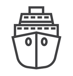 cruise line icon travel and tourism vector image vector image