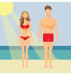 Man and Woman Flat vector image vector image