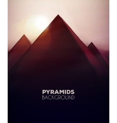 Pyramids Background vector image