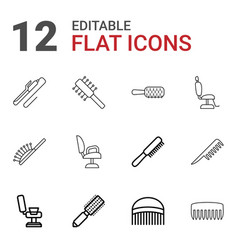 12 comb icons vector