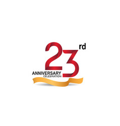 23 anniversary design logotype red color vector