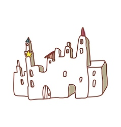 A castle stands on the road vector
