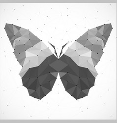 Abstract butterfly of triangles vector