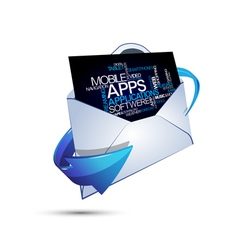 Abstract message applications vector image