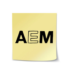 Aem on sticky note template vector