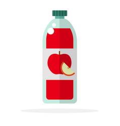 apple juice red apples flat material design vector image