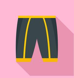 bike shorts icon flat style vector image