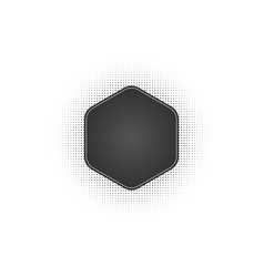black abstract hexagon frame halftone dots logo vector image