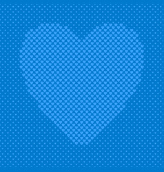 blue heart shaped background from hearts vector image
