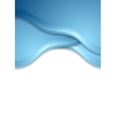 Blue wavy abstract corporate flyer template vector image